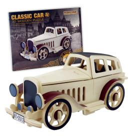 3D drvene puzzle klasični auto
