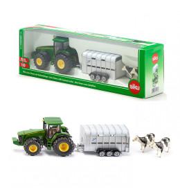 SIKU Traktor s prikolicom za s