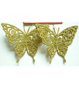 Leptir 11 cm 2kom/set zlatni