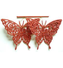 Leptir 11 cm 2kom/set crveni