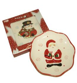 Božićni tanjir keramika 20 cm