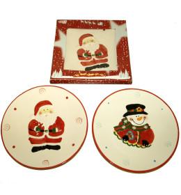 Božićni tanjir keramika 23 cm