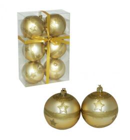 Kuglice 8cm 6kom dekor-zlatne