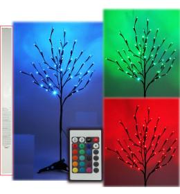 Svetleće drvo, LED, raznobojno