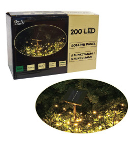 LED Solarni panel 200L, 8 funk