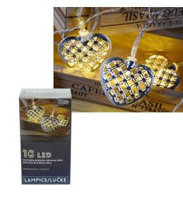 LED svetleća metalna srca 10L,