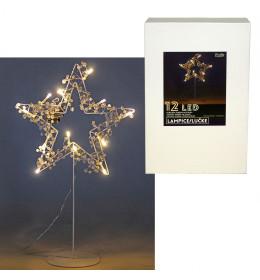 Zvezda s LED svetlima, 12L bel