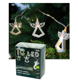LED drveni anđeli 5,5x5 cm, 10