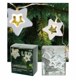 LED drvene zvezde 5,7x5,7 cm,