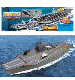 Aircraft carrier w 3 metal fig