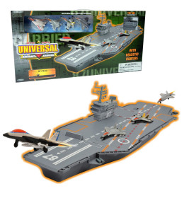 Aircraft carrier w 4 metal fig