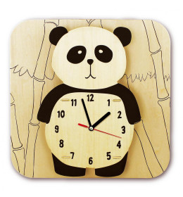 Drvena bojanka sat  Panda